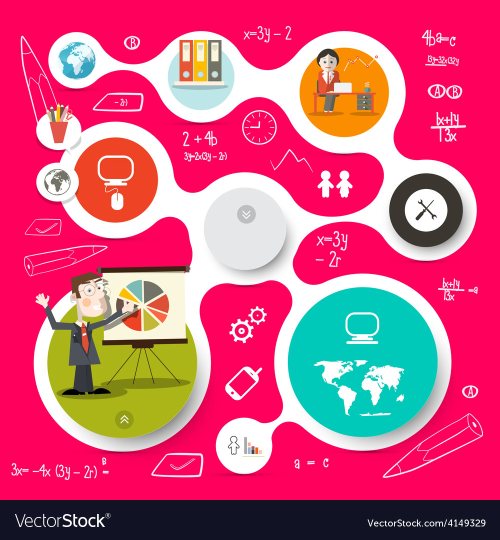Circle infographics and web design template vector