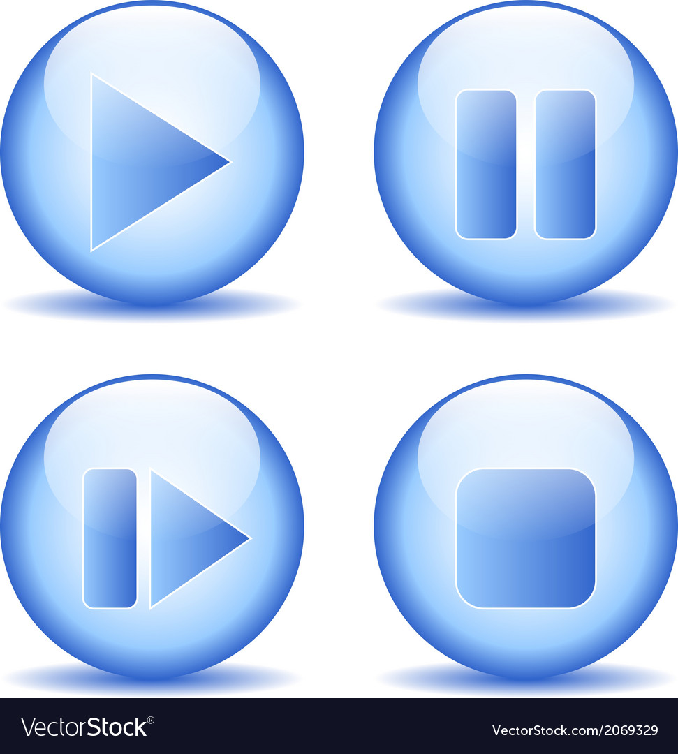 Elements buttons set vector | Price: 1 Credit (USD $1)