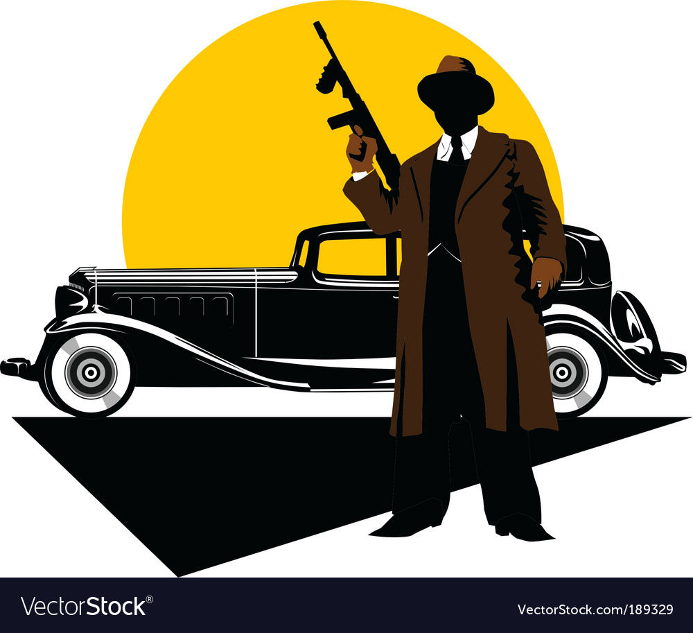 Gangster car vector | Price: 1 Credit (USD $1)