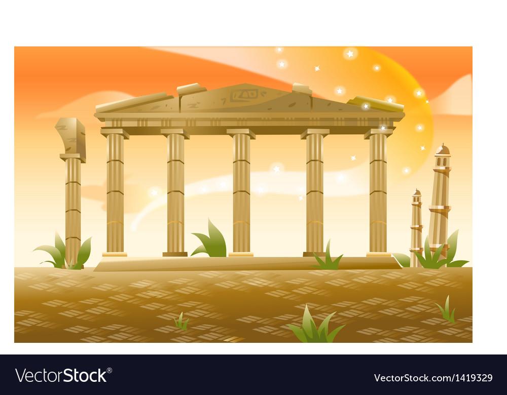Greek columns vector | Price: 1 Credit (USD $1)