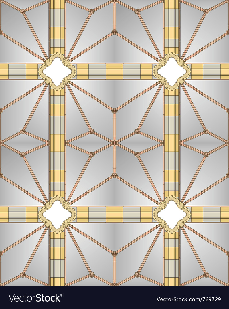 Medieval cathedral ceiling vector | Price: 1 Credit (USD $1)
