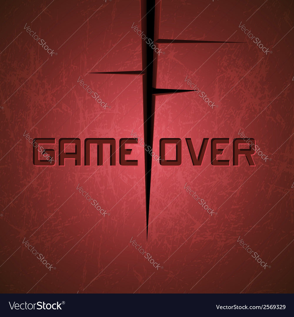 Message game over vector | Price: 1 Credit (USD $1)