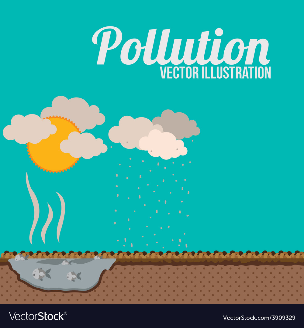 Pollution design over blue background vector | Price: 1 Credit (USD $1)