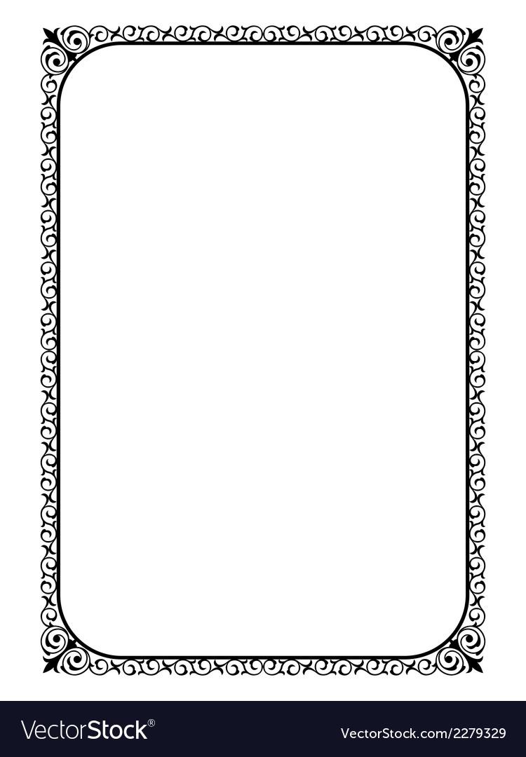 Simple black ornamental decorative frame vector | Price: 1 Credit (USD $1)