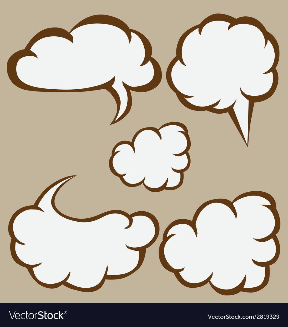 Sketchy bubbles speech vector | Price: 1 Credit (USD $1)