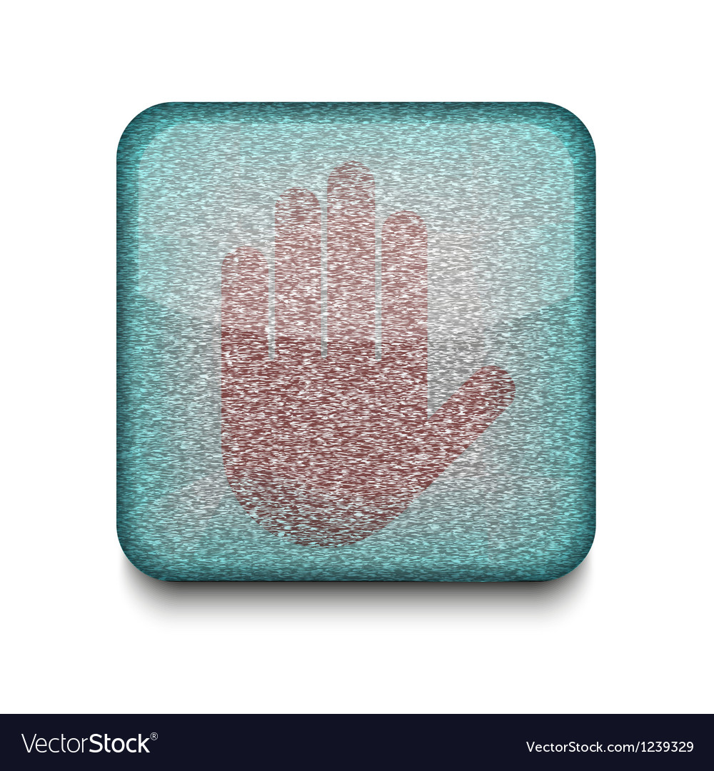 Stop hand icon vector | Price: 1 Credit (USD $1)