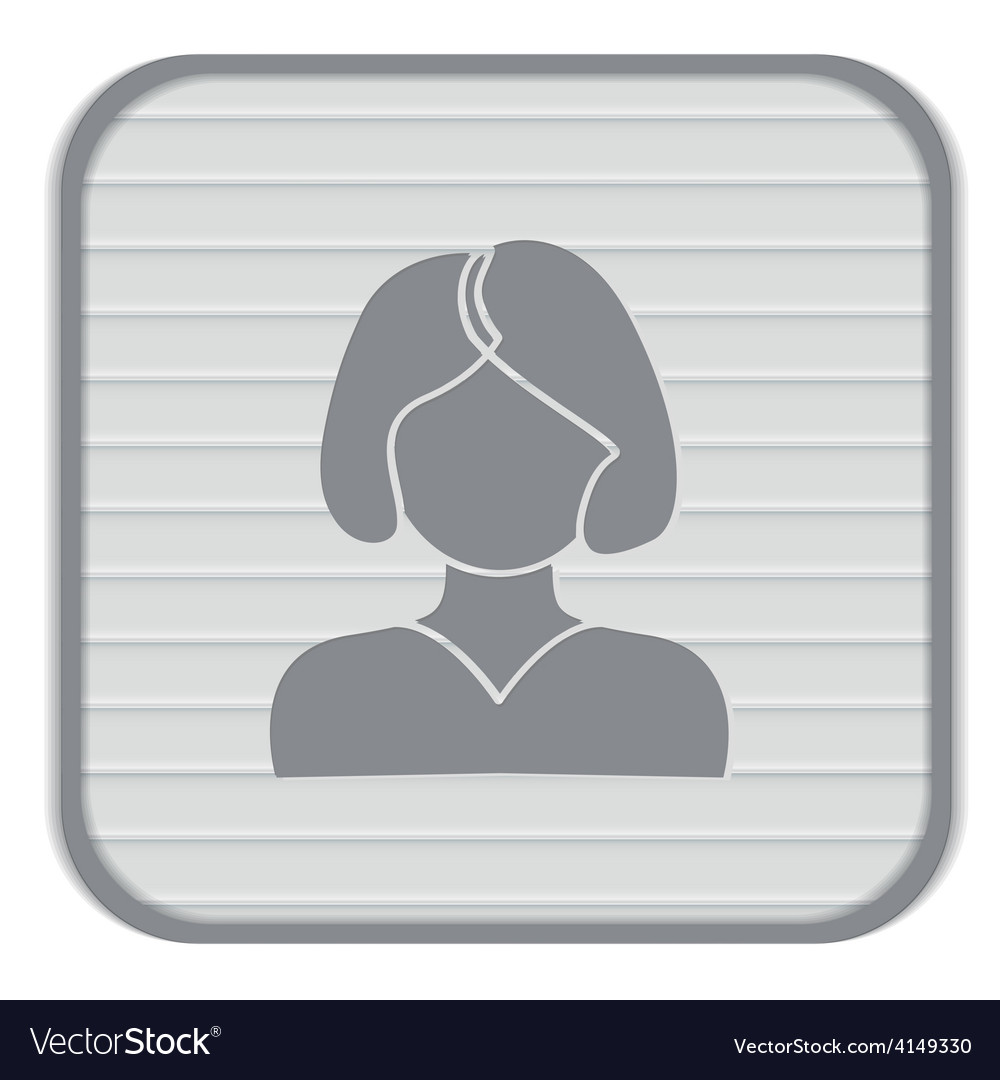 A female avatar girl with hair tail avatar of a vector | Price: 1 Credit (USD $1)