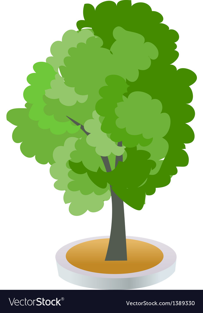 A view of a tree vector | Price: 1 Credit (USD $1)