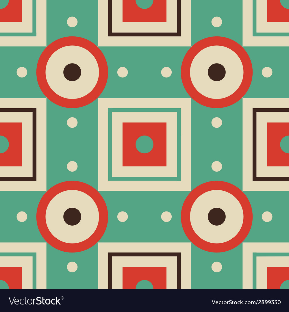 Abstract geometric seamless retro pattern vector | Price: 1 Credit (USD $1)