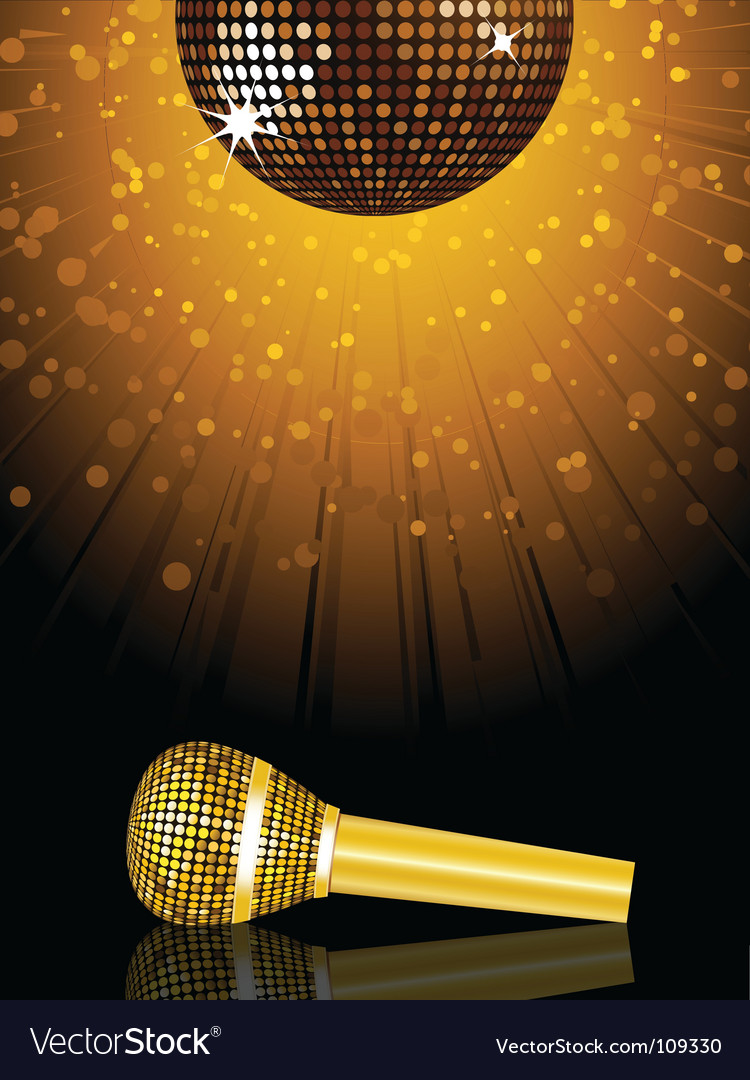 Disco ball and microphone vector | Price: 1 Credit (USD $1)