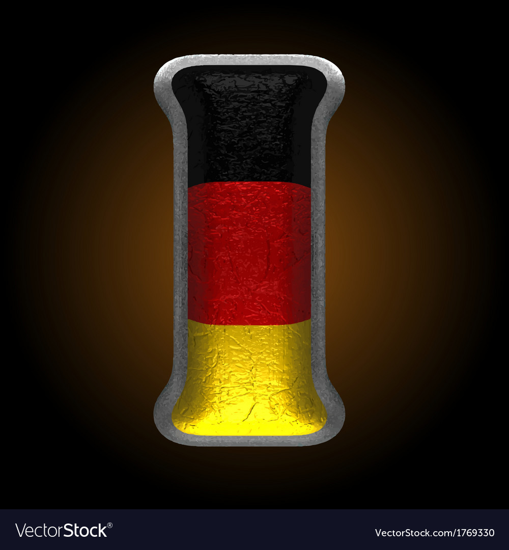 Germany metal figure i vector | Price: 1 Credit (USD $1)