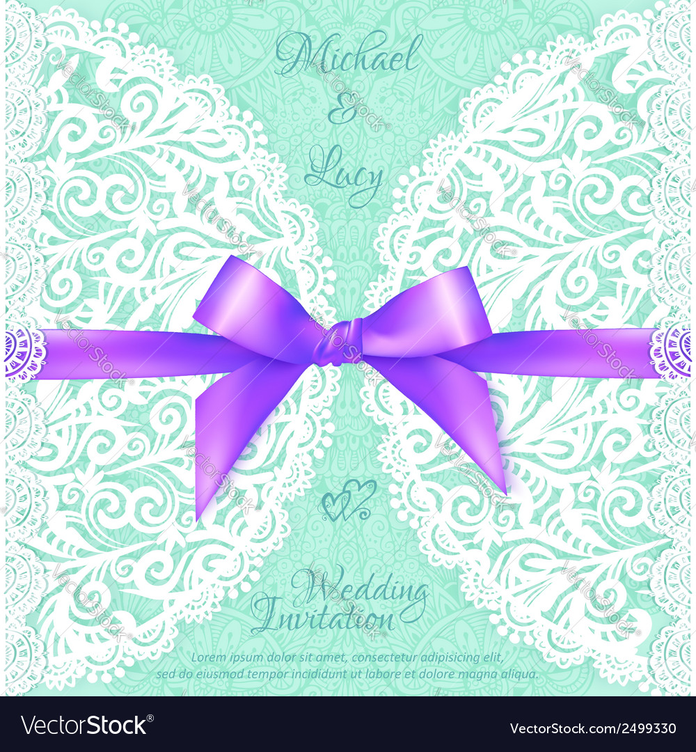 Light green lacy wedding card template vector | Price: 1 Credit (USD $1)