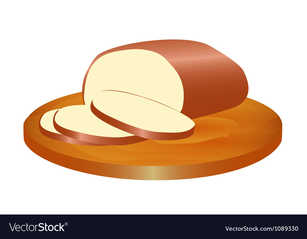 Melted smoked cheese on the board vector | Price: 1 Credit (USD $1)