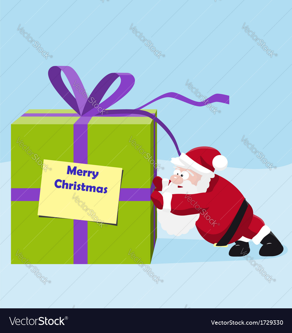 Santa move a great gift vector | Price: 1 Credit (USD $1)