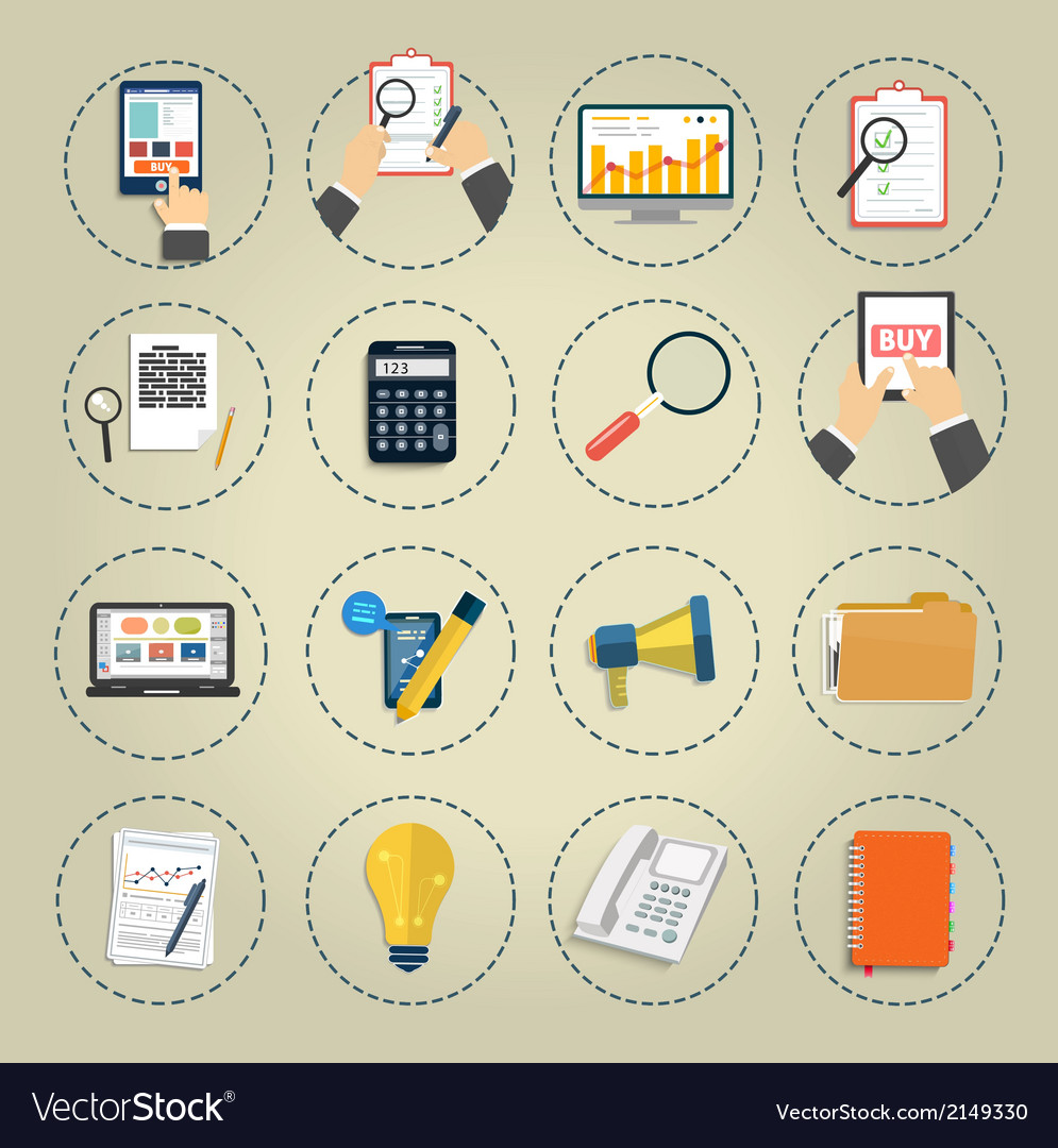 Set of various financial service items vector | Price: 1 Credit (USD $1)
