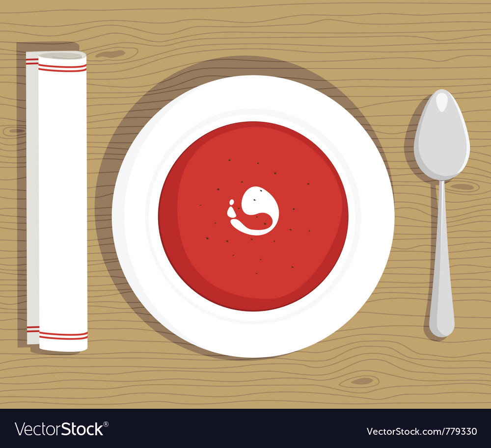 Tomato soup vector | Price: 3 Credit (USD $3)