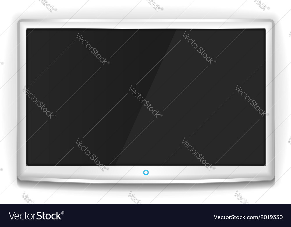 White tv vector | Price: 1 Credit (USD $1)