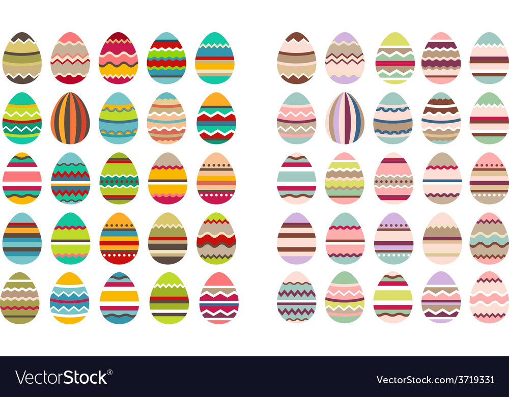 Big set with different eggs vector | Price: 1 Credit (USD $1)