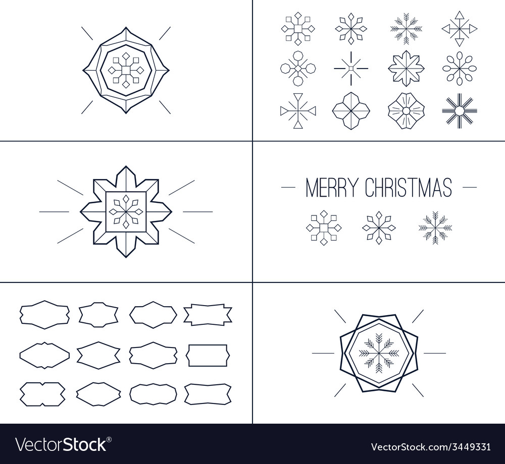 Christmas retro vintage card vector | Price: 1 Credit (USD $1)