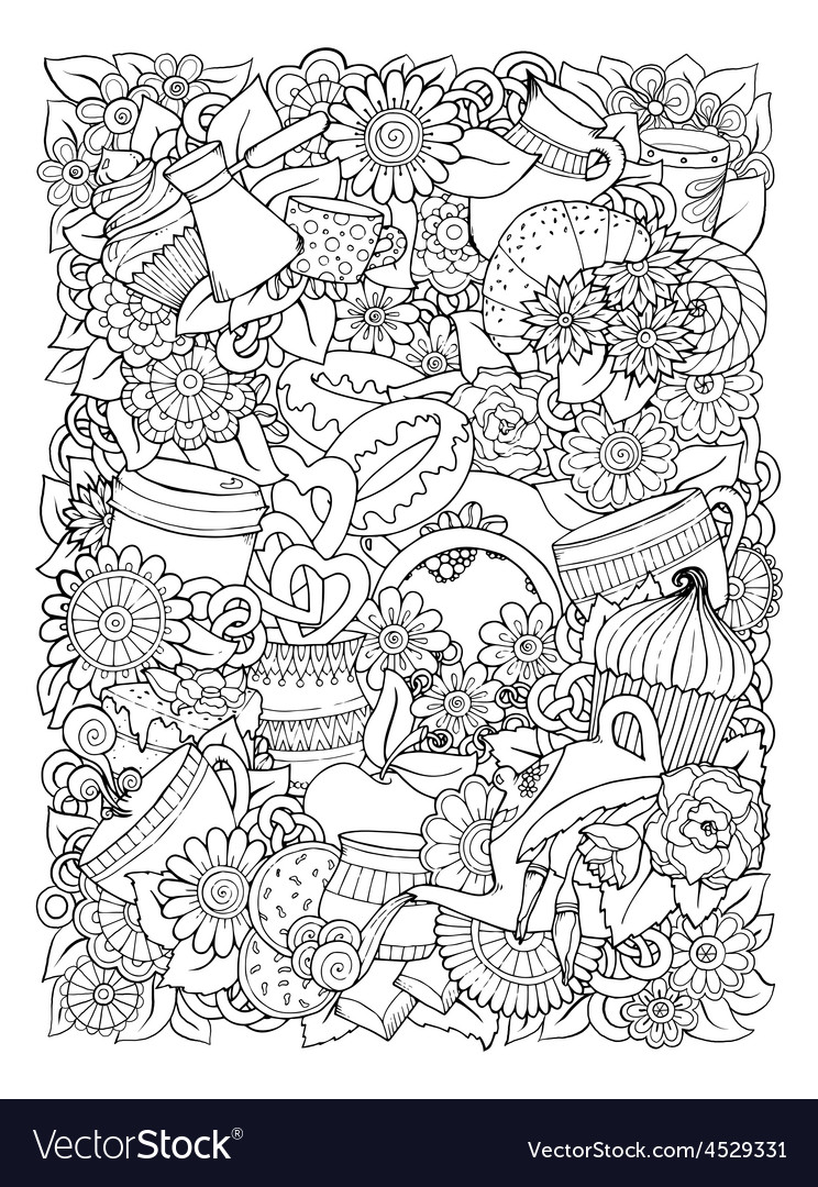 Hand-drawn doodle  coffee and vector | Price: 1 Credit (USD $1)