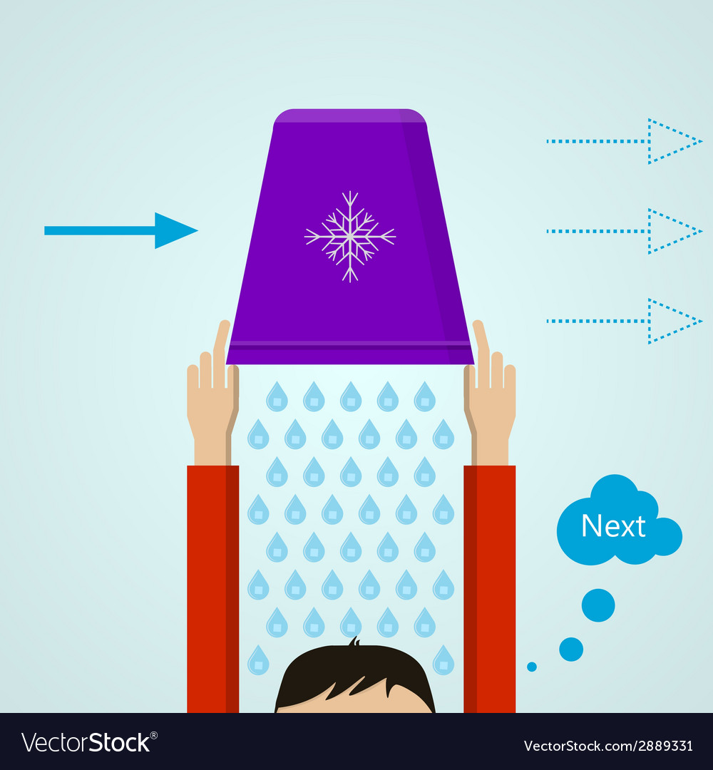 Ice bucket challenge colored flat vector | Price: 1 Credit (USD $1)