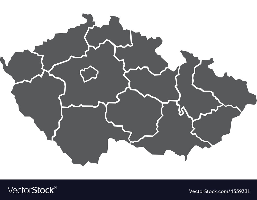 Map of czech republic vector | Price: 1 Credit (USD $1)
