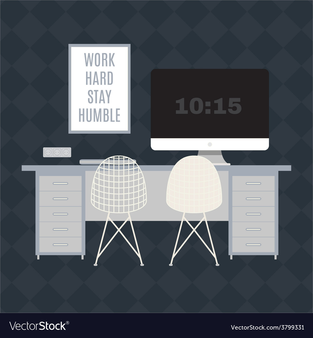 Modern office workspace vector | Price: 1 Credit (USD $1)