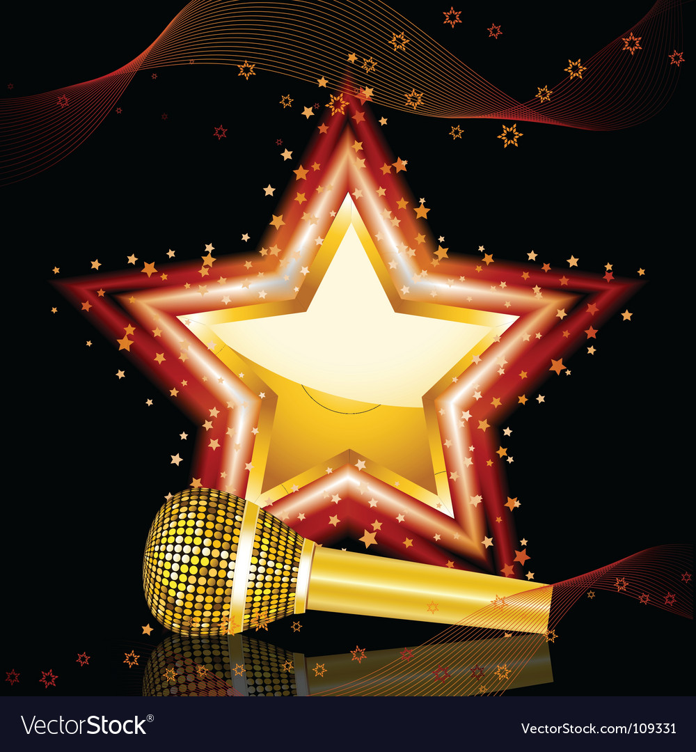 Pop star background vector | Price: 1 Credit (USD $1)