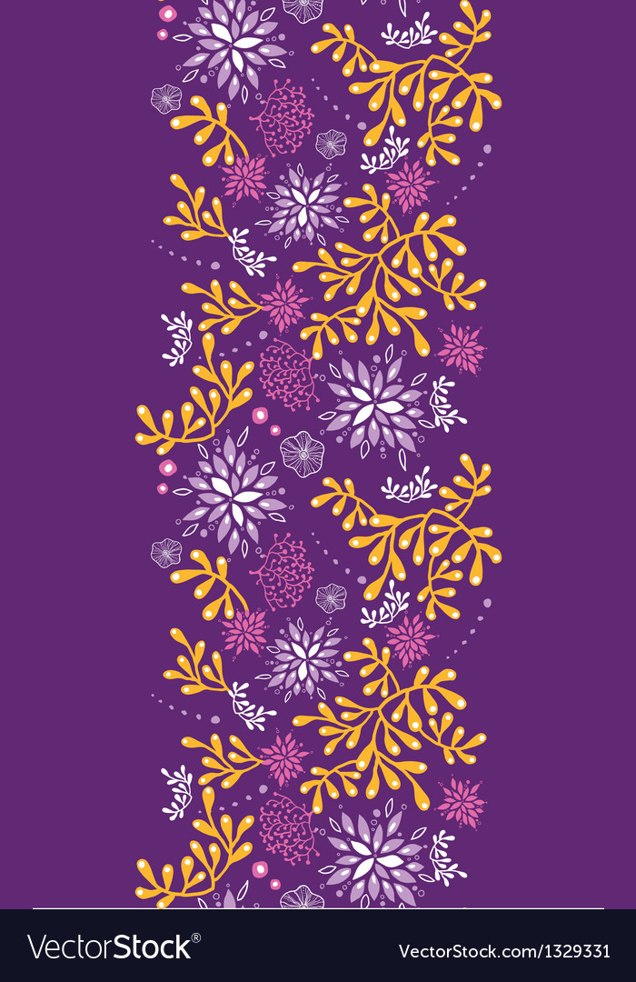 Purple and gold underwater plants vertical vector | Price: 1 Credit (USD $1)
