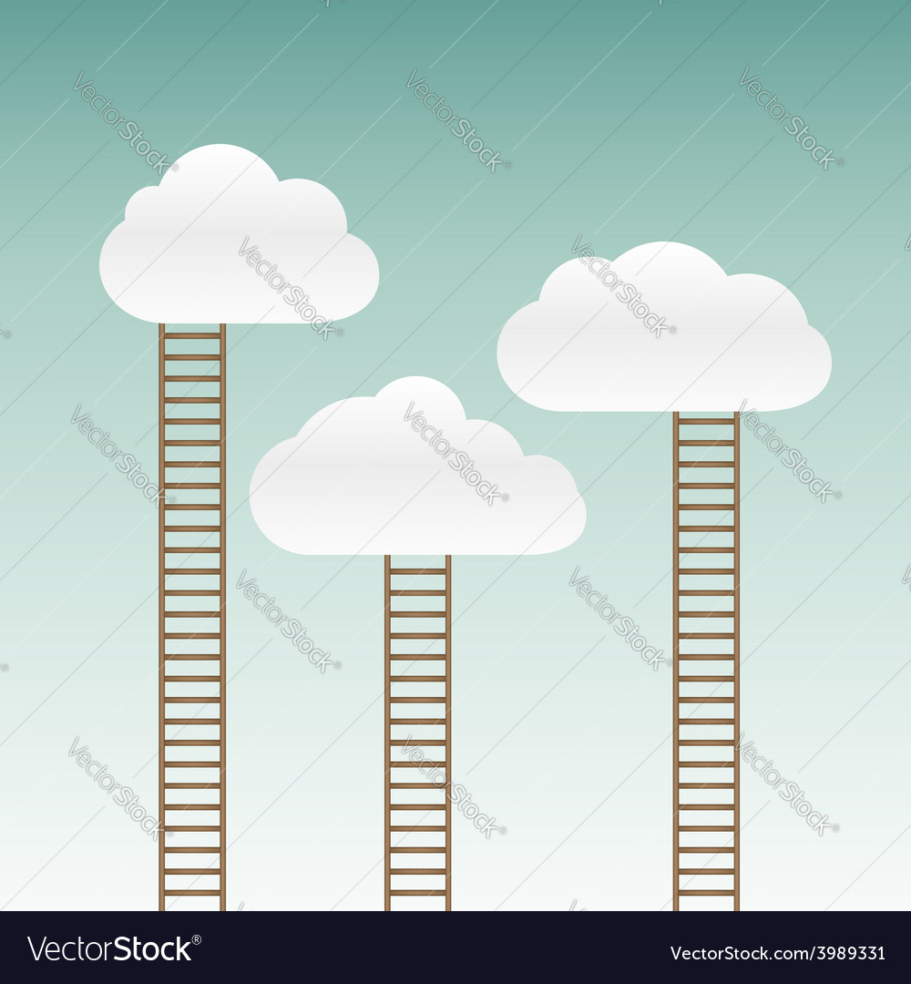 Stairs leading to the clouds vector | Price: 1 Credit (USD $1)