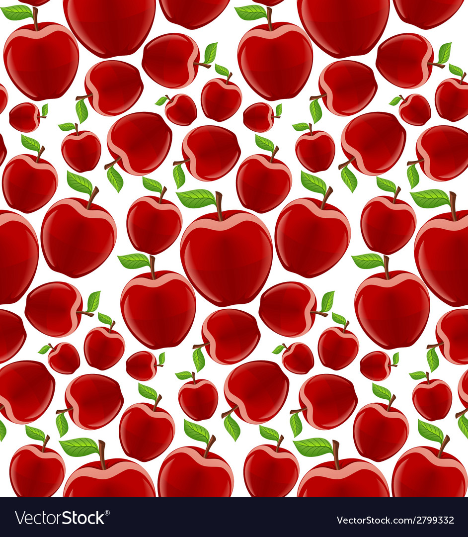 Apple seamless pattern vector | Price: 1 Credit (USD $1)