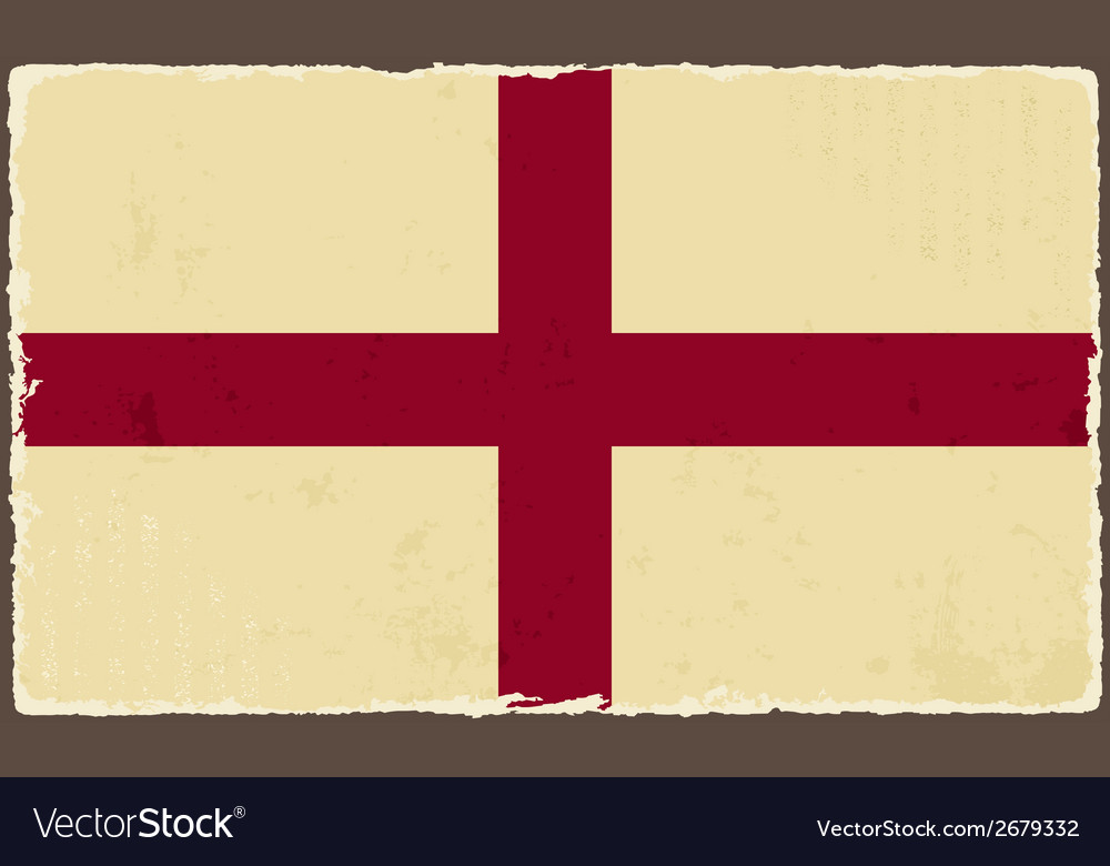 English grunge flag vector | Price: 1 Credit (USD $1)