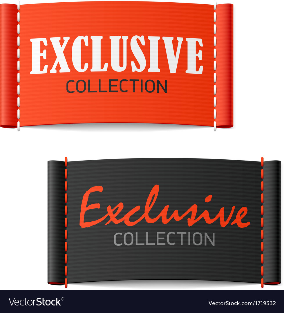 Exclusive collection clothing labels vector | Price: 1 Credit (USD $1)