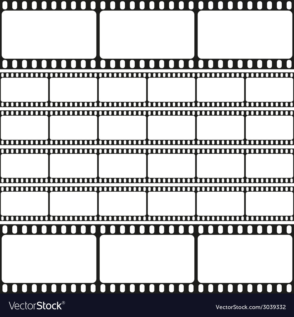 Film strips seamless pattern retro background vector | Price: 1 Credit (USD $1)