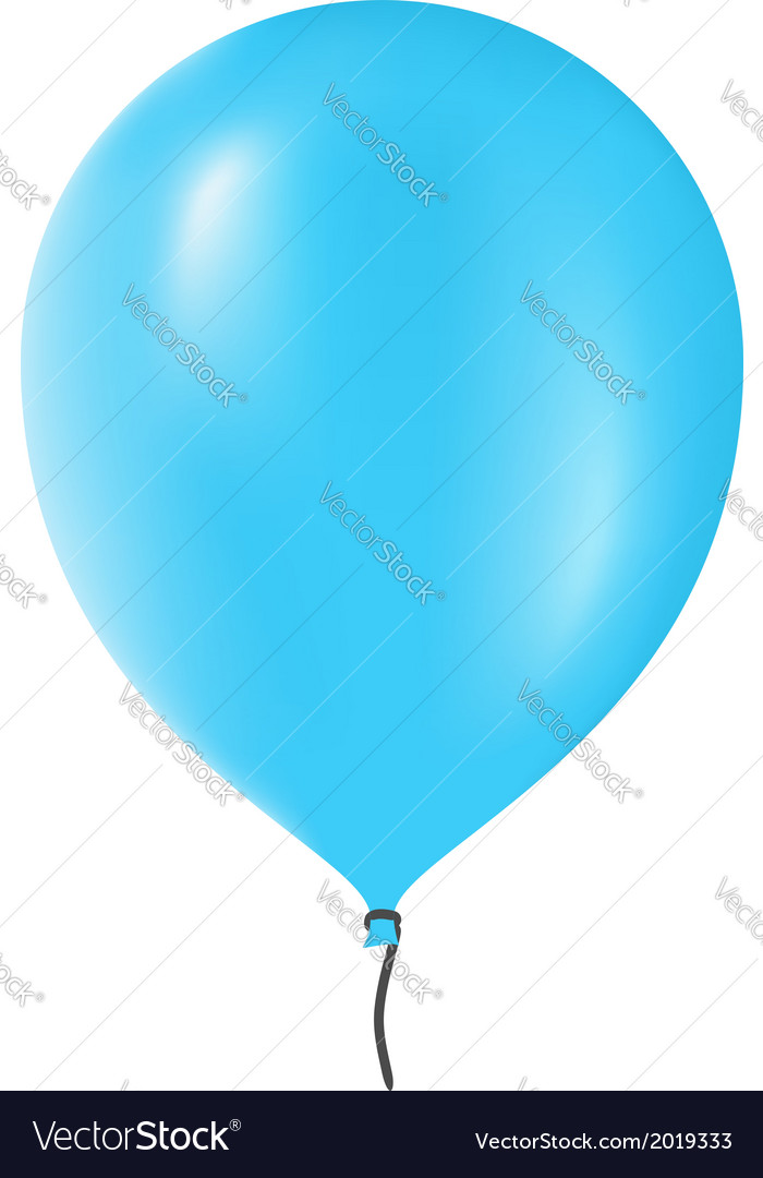 Blue balloon vector | Price: 1 Credit (USD $1)