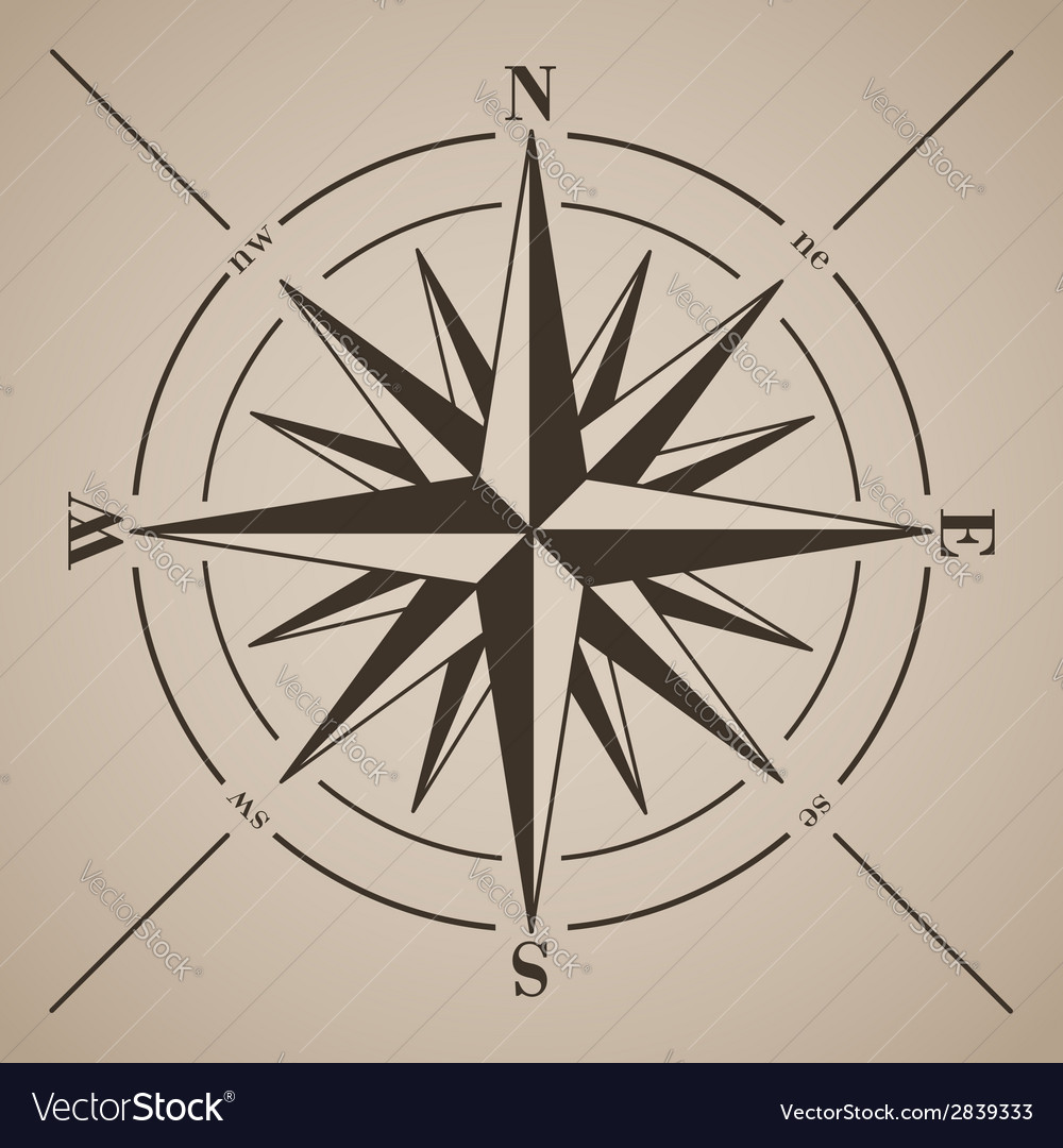Compass rose vector   Price: 1 Credit (USD $1)