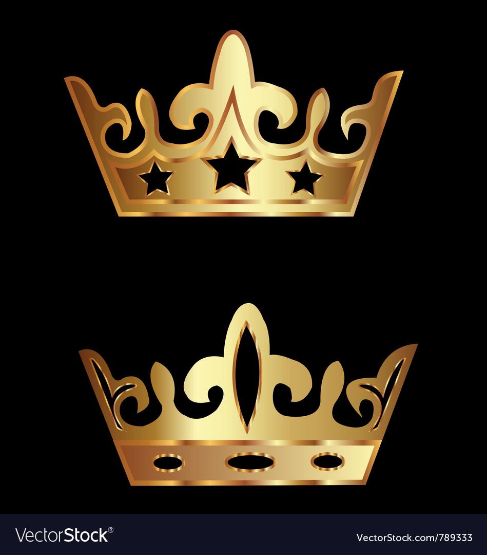 Crowns royalty vector | Price: 1 Credit (USD $1)