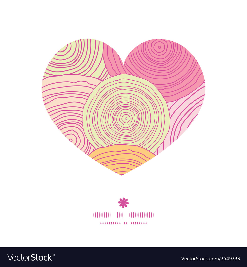 Doodle circle texture heart silhouette pattern vector | Price: 1 Credit (USD $1)
