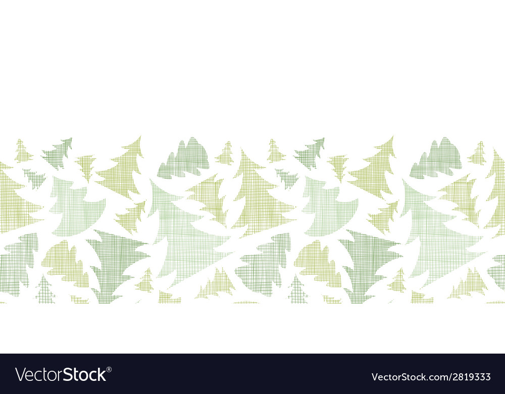 Green christmas trees silhouettes textile vector | Price: 1 Credit (USD $1)