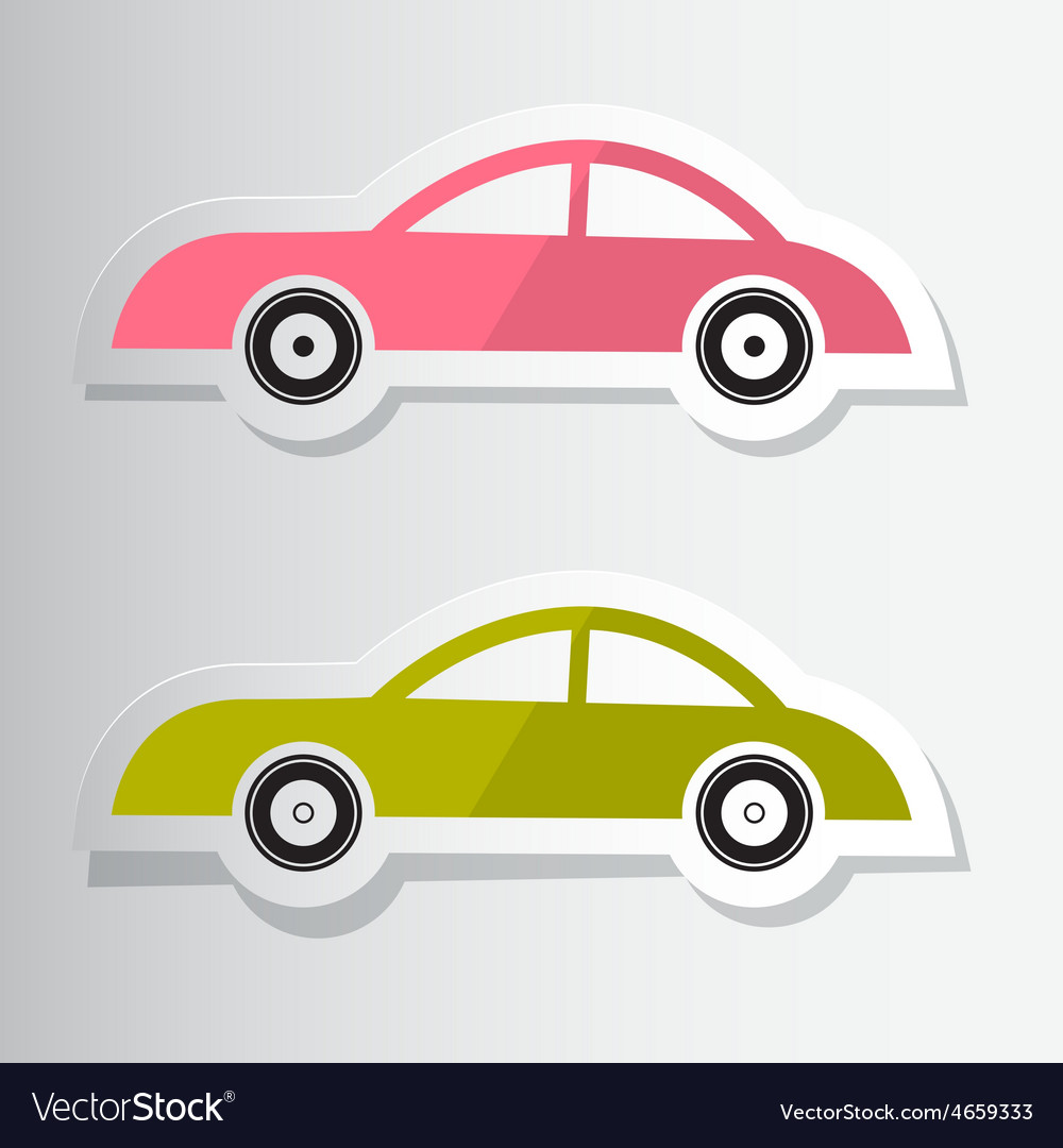 Paper cut cars vector | Price: 1 Credit (USD $1)