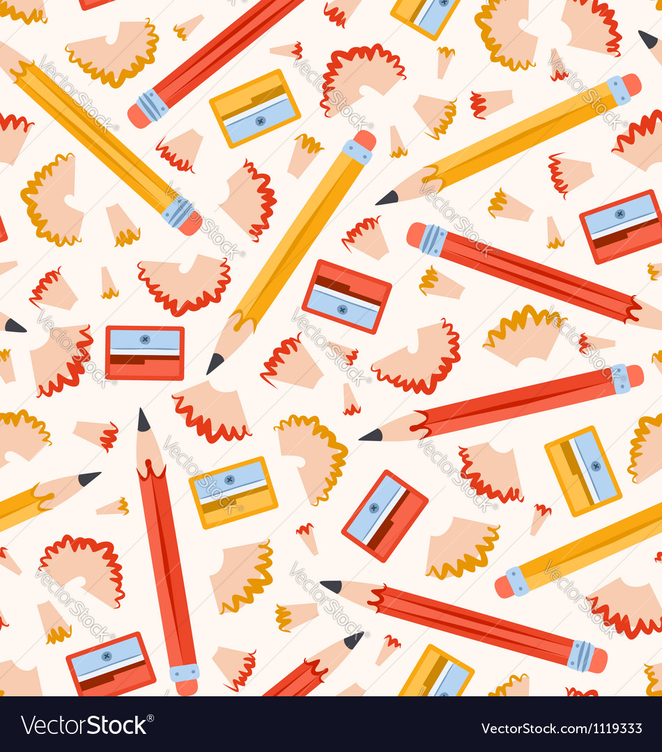 Pencils pattern vector | Price: 1 Credit (USD $1)