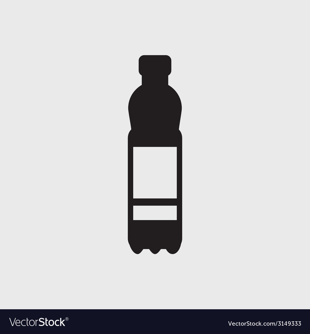 Plastic bottle icon vector
