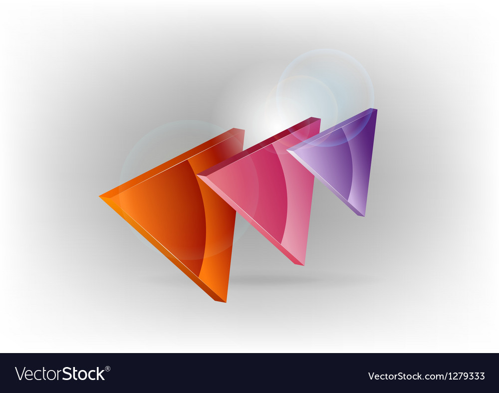 Three colors triangles warm vector | Price: 1 Credit (USD $1)