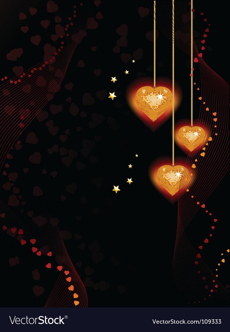 Valentine heart background vector | Price: 1 Credit (USD $1)