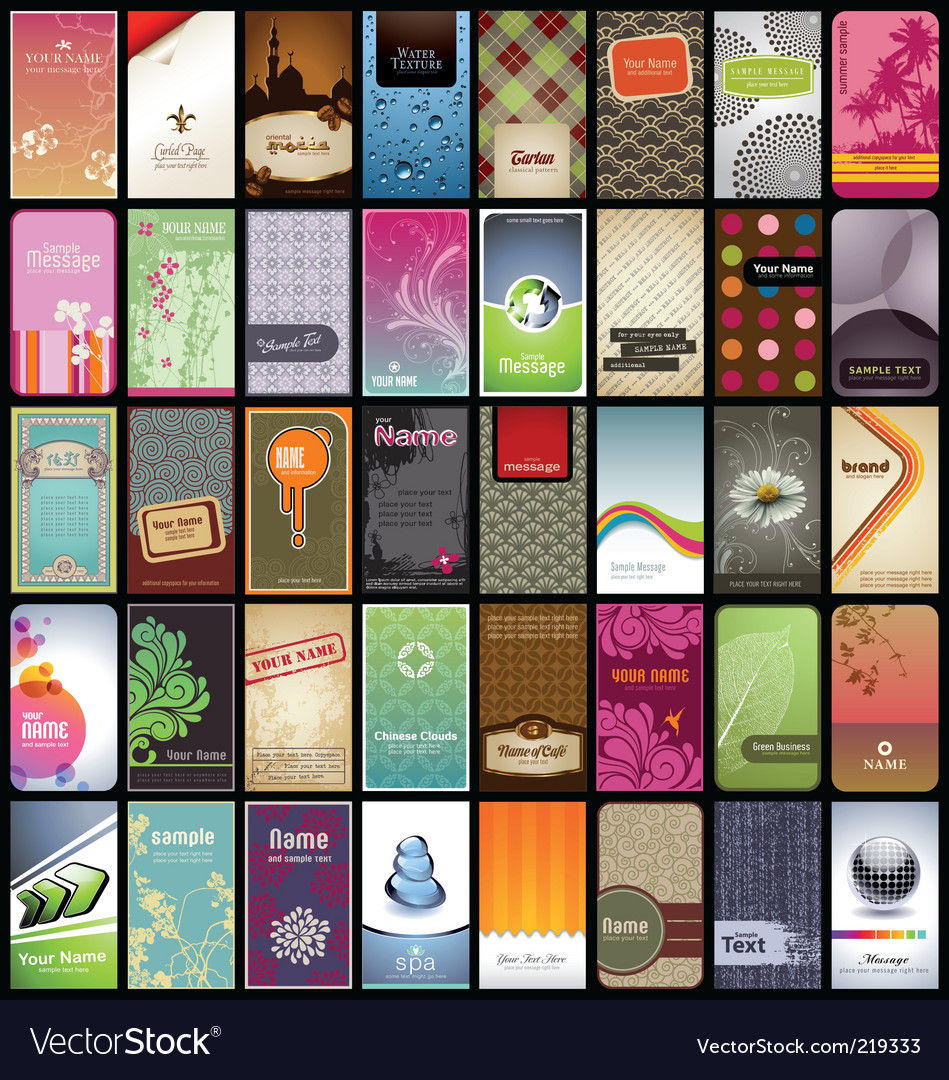 Vertical business cards vector   Price: 5 Credit (USD $5)