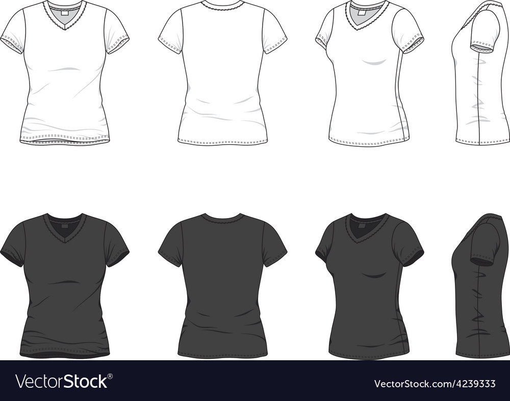 V-neck t-shirt vector | Price: 1 Credit (USD $1)