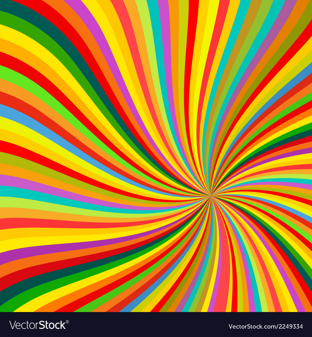 Abstract colorful lines rotation background vector | Price: 1 Credit (USD $1)