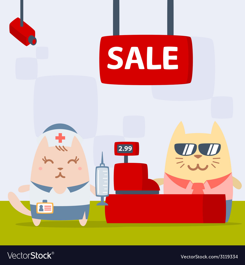 Character nurse in uniform with a medical cap vector | Price: 1 Credit (USD $1)