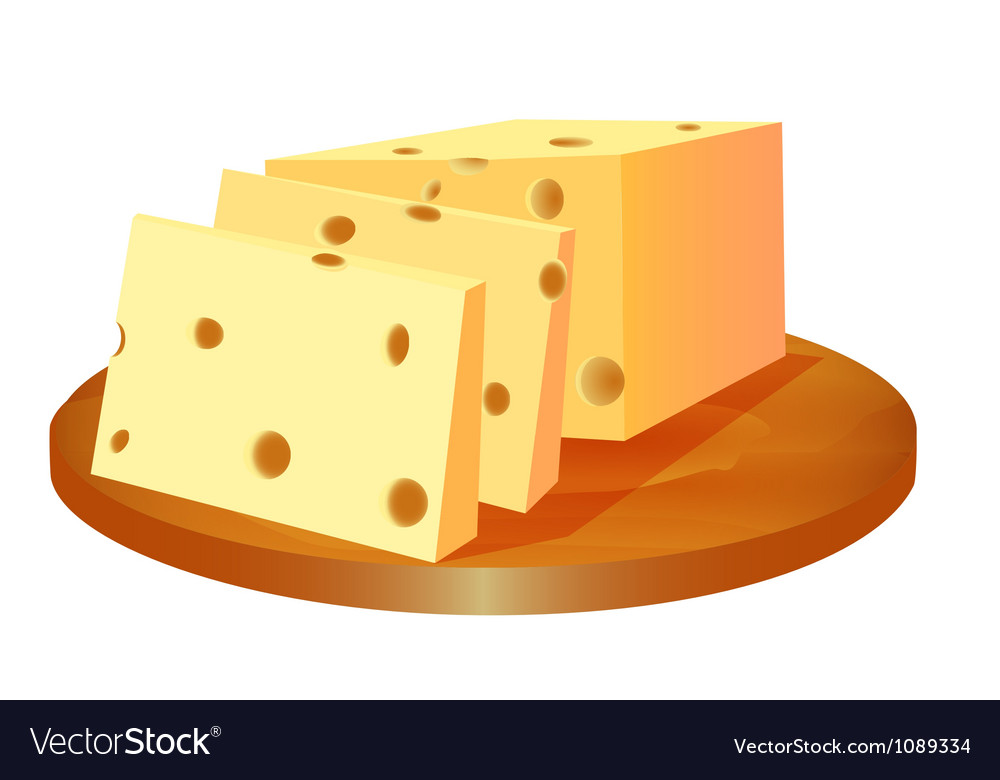Cheese cut in the board vector | Price: 1 Credit (USD $1)