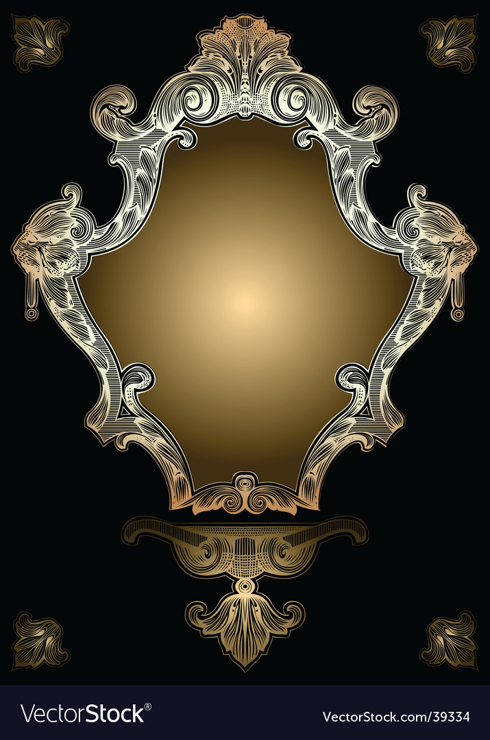 Decorative gold royal ornate banner vector | Price: 1 Credit (USD $1)
